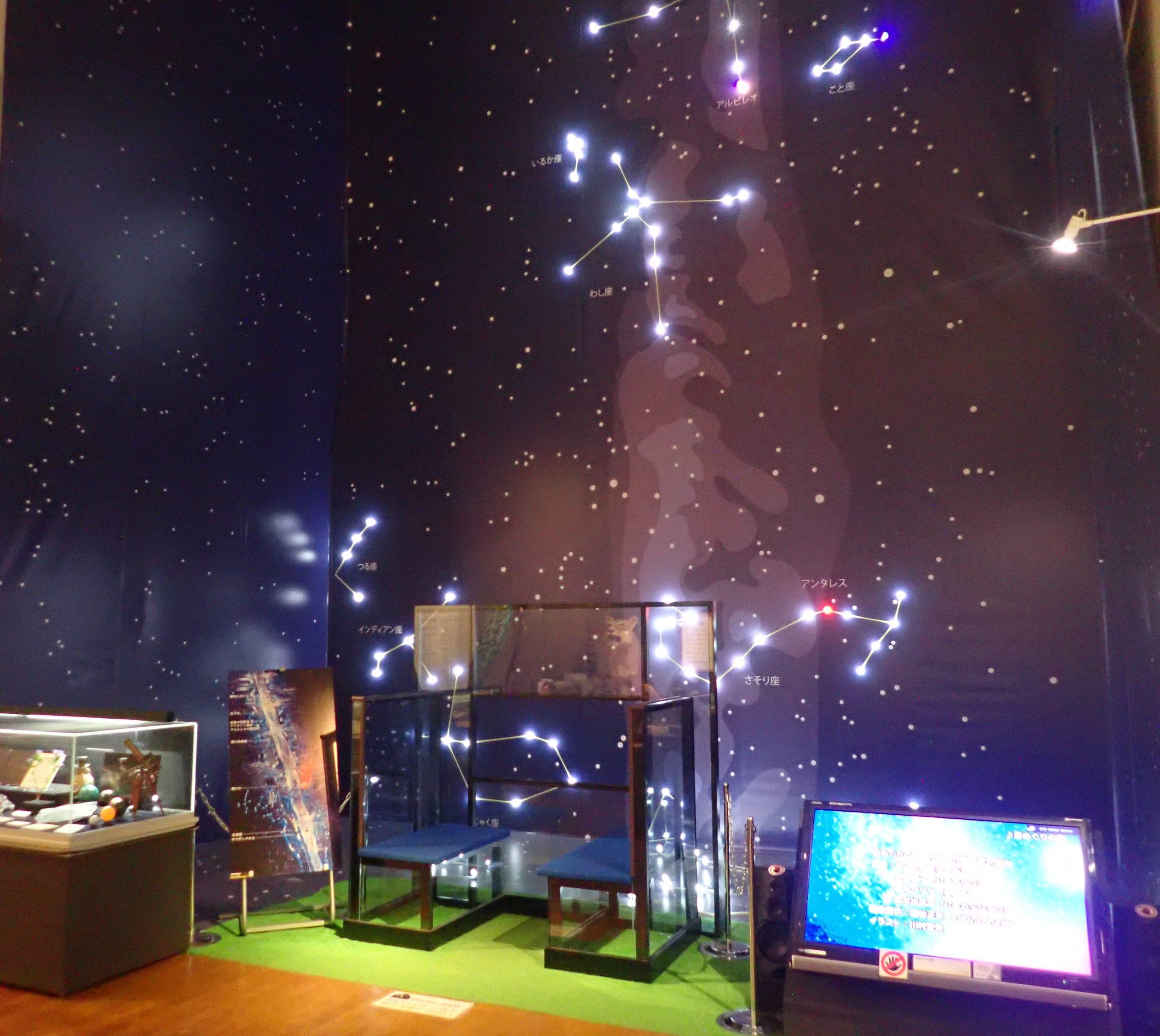 シンボル展示「銀河鉄道の夜」