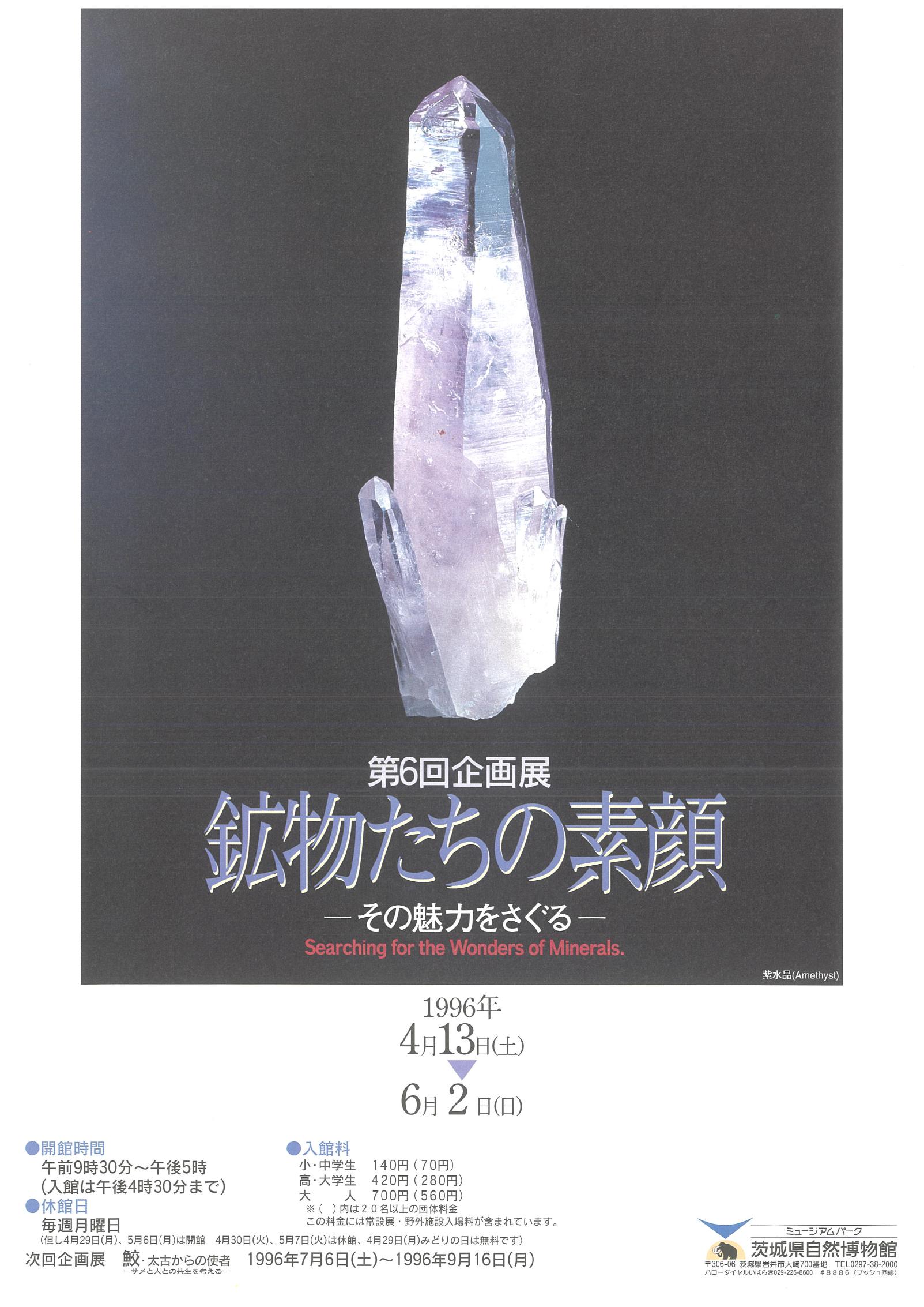 鉱物たちの素顔 -その魅力をさぐる-