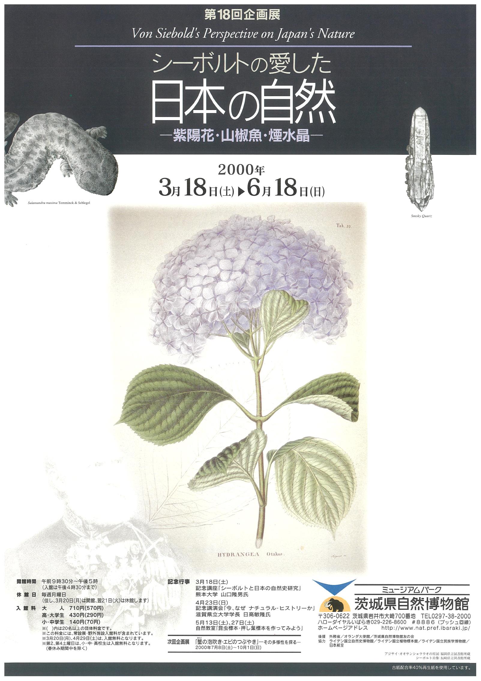 シーボルトの愛した日本の自然 - 紫陽花・山椒魚・煙水晶 -
